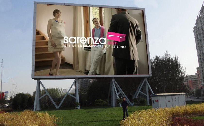 Ecran geant led informations et vente de panneau for Panneau exterieur publicitaire
